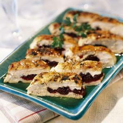 Pressed Chicken Breasts with Dried Cherries