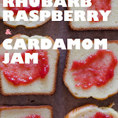 Rhubarb Raspberry and Cardamom Jam