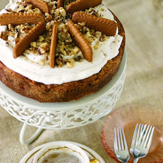 Apple Spice Cake Cheesecake with Cookie Butter