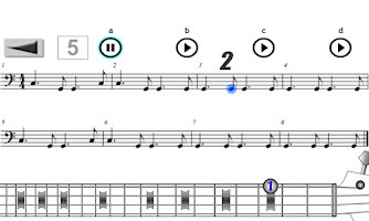 Screenshot of Play Bass Popular Styles