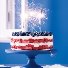 Red, White, and Blue Berry Trifle