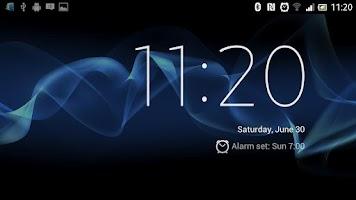Screenshot of Sony Xperia S Desk Clock