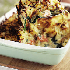 Salmon And Spinach Rosti Bake