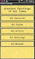 Screenshot of Greatest Paintings Free