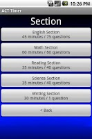 Screenshot of ACT Timer - Free
