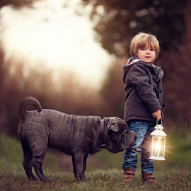 Catching Pixies by Claire Conybeare - Chinchilla Photography - Babies & Children Toddlers ( magic, shar pei, dog, toddler, boy )