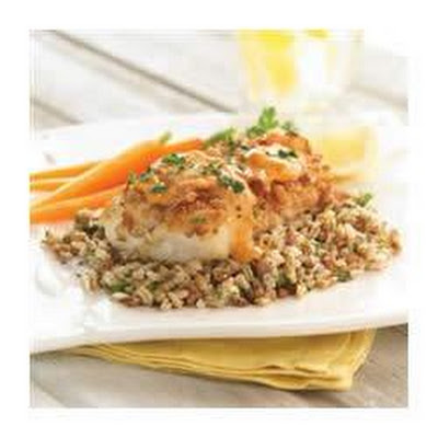 Pretzel Crusted Cod with Apricot Dijon Sauce