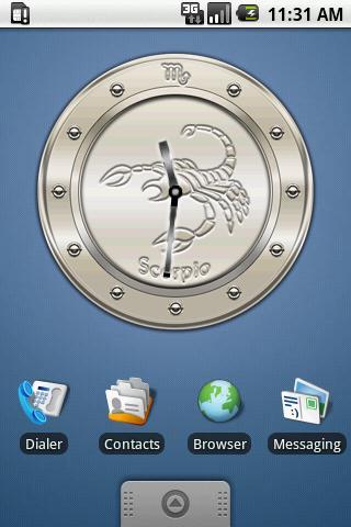 SCORPIO - Metal Clock