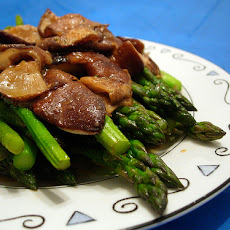 Stir Fried Asparagus With Mushrooms