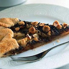 Pear, Chocolate, and Hazelnut Crostata