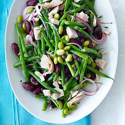 Four-Bean Salad with Tuna