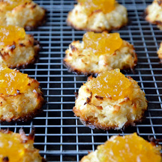 Coconut Macaroons with Pineapple Jam