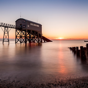 RNLI Selsey Lifeboat Station - Dawn of Morning by Kevin Standage - Landscapes Sunsets & Sunrises ( canon, england, sussex, long exposure, selsey, beach, sunrise, big stopper, coast )