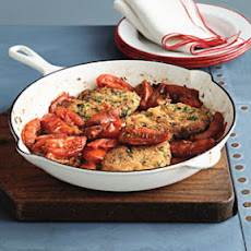 Pork Cutlets with Pan-Roasted Tomatoes