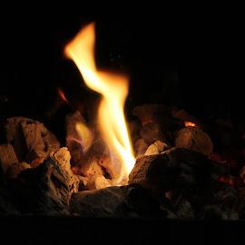 Fire by Christa Hartzer - Abstract Fire & Fireworks ( warm, dark, burning, light, fire )