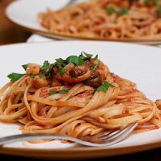 Linguine Puttanesca with Chickpeas