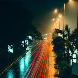 On the Highway!!! by Santhosh Anantharaghavan - Novices Only Objects & Still Life ( canon, lights, highway, still life, stars )