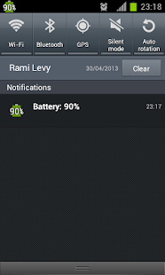 show battery percentage for Lollipop - Android 5.0