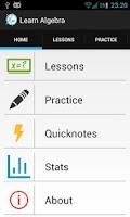 Screenshot of Learn Algebra