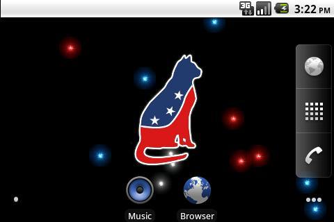 玩個人化App|Patriotic Cat Fireworks LWP免費|APP試玩