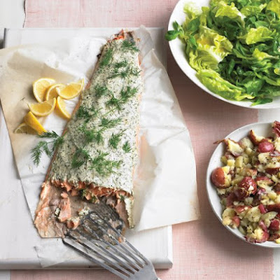 Roasted Salmon with Herbed Yogurt