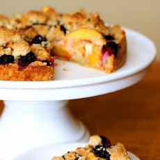 Peach Blackberry Crumble Tart