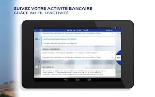 Screenshot of LCL Mes Comptes pour tablette