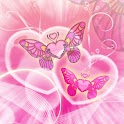 Butterfly Hearts theme 480x800 icon