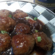 Meatballs in Cranberry and Pinot Noir Sauce