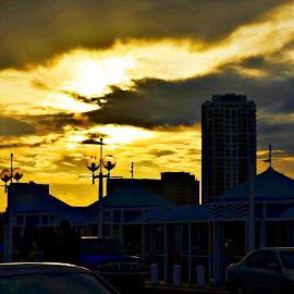 Sunset St Petersburg by Mary Beth Schepper - City,  Street & Park  Skylines ( sunset, buildings )