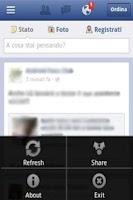 Screenshot of Facebook No Background