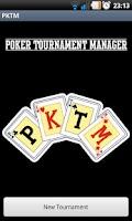 Screenshot of Poker Tournament Manager