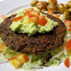 Healthy Spicy Black Bean Cakes With Guacamole
