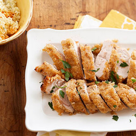 Parmesan-Crusted Turkey with Mashed Cauliflower