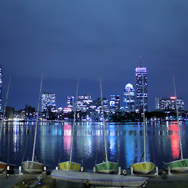 Boston by Ty Wolf - City,  Street & Park  Night ( boston )