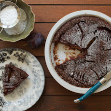 Chocolate Cardamom Plums Clafoutis