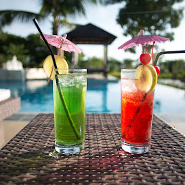 Long Island by Maeza Artluzination - Food & Drink Alcohol & Drinks ( red, green )
