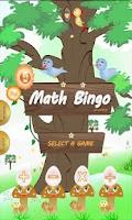 Screenshot of Math BINGO