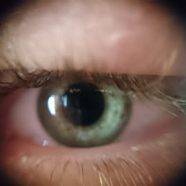 Blue eye with camera lens by Ѓорѓи Станковски - People Body Parts