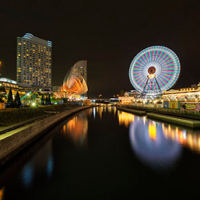 Minato Mirai by Nyoman Sundra - City,  Street & Park  Amusement Parks ( japan, night, sakuragicho, yokohama, city )