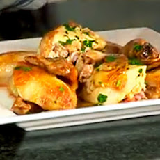 Roast Chicken with Thyme, Lemon and Gravy