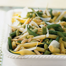 Three Bean Salad with Almonds and Pecorino