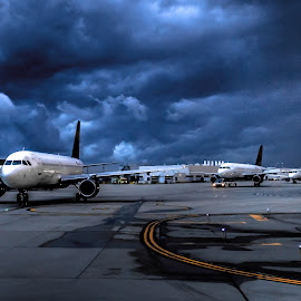 Awaiting signal by Nicco Valenzuela - Transportation Airplanes ( aviation, airport, sky, airplane, runway, planes,  )