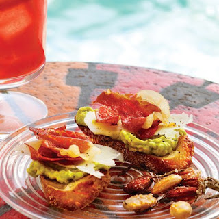 Crisped-Prosciutto and Avocado Crostini