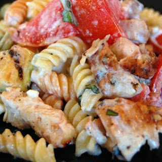 Garden Rotini with Grilled Zucchini and Chicken