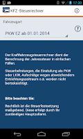 Screenshot of Kfz-Steuer