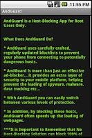 Screenshot of AndGuard for Root