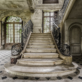 Stair still by Garry Woodford - Buildings & Architecture Decaying & Abandoned ( abstract, urban, stairs, france, nikon, design, decay, abandoned )
