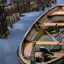 My world by Silvia Irace - Transportation Boats ( water, colors, boats, amsterdam, canal )