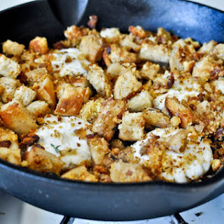 Thanksgiving Breakfast Hash with Cheddar Mashed Potato Pancakes
